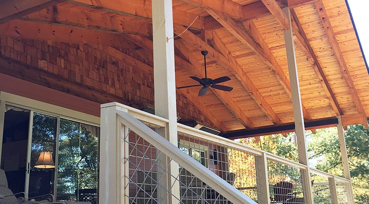 outhern Quality Company Wood Ceiling with Ceiling Fan